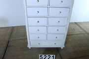 Country style Cupboard /chest of drawers white in pine wood, european 20 century