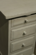 Country style Painted desk / bureau in pine wood, european 20 century