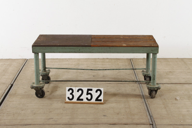 1 Industrial Vintage Bench Trolley Table Tv Cabinet