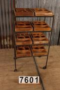 Industrial  vintage style Industrial vintage rack in metal, european 1960