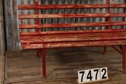 Industrial  vintage style Industrial vintage retro bench in wood, European 1960