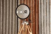 Industrial  vintage style  Vintage lamp with tripod in metal/wood, European 1960