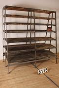 Industrial  vintage style Vintage rack  in metal/wood, european 1960
