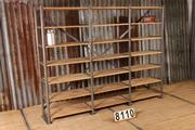 Industrial  vintage style  vintage shelving rack unit  in metal/wood, european 1960