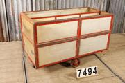 Industrial  vintage style Vintage trolley in metal / wood, european 1960