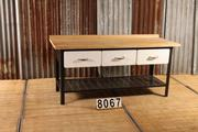 Industrial  vintage style Vintage workbench in metal/wood, european 1960
