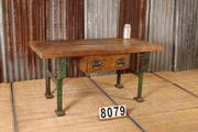 Industrial  vintage style Vintage Workbench,table in Wood/metal, european 1960