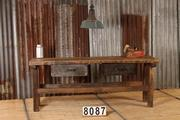 Industrial  vintage style Workbench,table in wood, european 1960