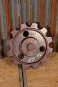 style Industrial vintage wheel in Metal/wood