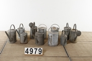Vintage industrial style Watercan  zinc in zinc, european 20 century