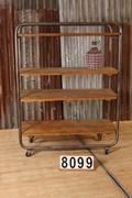 3 Industrial  vintage Rack rack on wheels