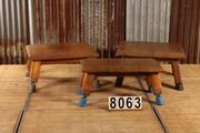 Industrial  vintage style Vintage gym leather table in leather, european 1960