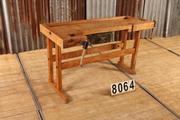 Industrial  vintage style Vintage workbench in wood, european 1960