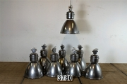 Industrial  vintage style Industrial Light /Factory Light in metal / glass, european 20 century