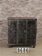 Industrial cabinet/trolley/shopcabinet polished to metal