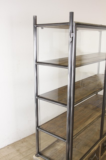 Industrial Chic Cabinet Glass Cabinet Shop Cabinet Furniture