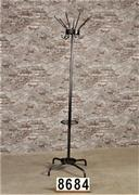 Industrial coat rack polished to metal