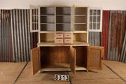 style Industrial retro vintage kitchen cabinet/showcase in Glass/metal/wood
