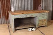 style Industrial retro vintage sidetable/shopcounter/desk in wood/metal