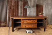 style Industrial retro workbench/desk/sidetable in wood/metal