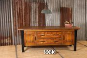 Industrial retro workbench/desk/sidetable