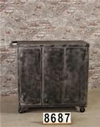Industrial trolley/cabinet polished to metal