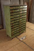 Industrial  vintage style Cabinet of drawers in Metal, European 20th century