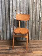 Industrial vintage cafe chair wood Solid seat
