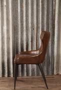 style Industrial vintage chair Mari brown in Pull up leather