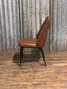 style Industrial vintage chair Maxi brown in Pull up leather