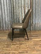 style Industrial vintage chair Maxi grey in Pull up leather