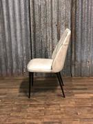 style Industrial vintage chair Maxi white in Pull up leather