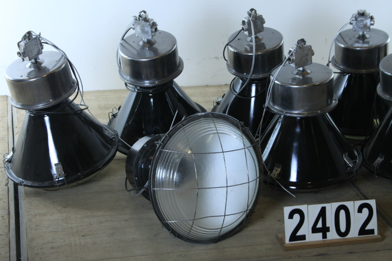 Vintage Factory Light Lighting Workbenches