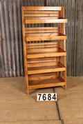 Industrial  vintage style Shopping rack in wood, European 20th century