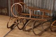 Industrial  vintage style Sled in wood, European 20th century