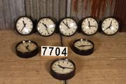 Industrial  vintage style Timepiece in metal / glass, European 20th century