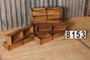 Industrial  vintage style Wooden box double in Wood, European 20th century
