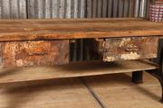 Industrial  vintage style Workbench,table in Wood/metal, European 20th century