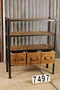 Industrial/chic style Industrial vintage rack,bookcase,shopcabinet in Polished to wood and metal