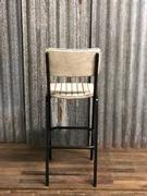 Industrial/vintage style Retro vintage barstool white in Pull up leather