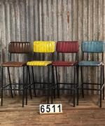 style Retro industrial vintage barstools 6 colors in Pull up leather