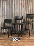 style Retro industrial vintage leather barstools 2 colors in Leather