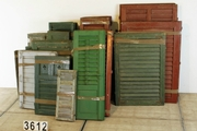 Vintage industrial style Louvered doors in wood, european 20 century