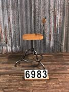 style Vintage retro machinist Stool in metal / wood